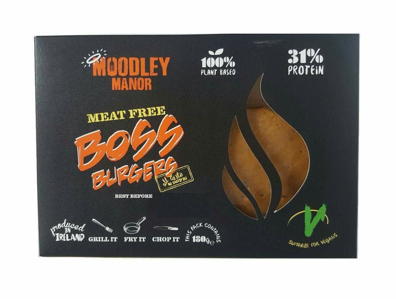 (Best Before 23/6) Moodley Manor Boss Burgers (180g) - TheVeganKind
