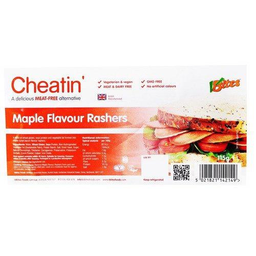 Vegan Meats - VBites Cheatin' Meat Maple Flavoured Rashers (115g)