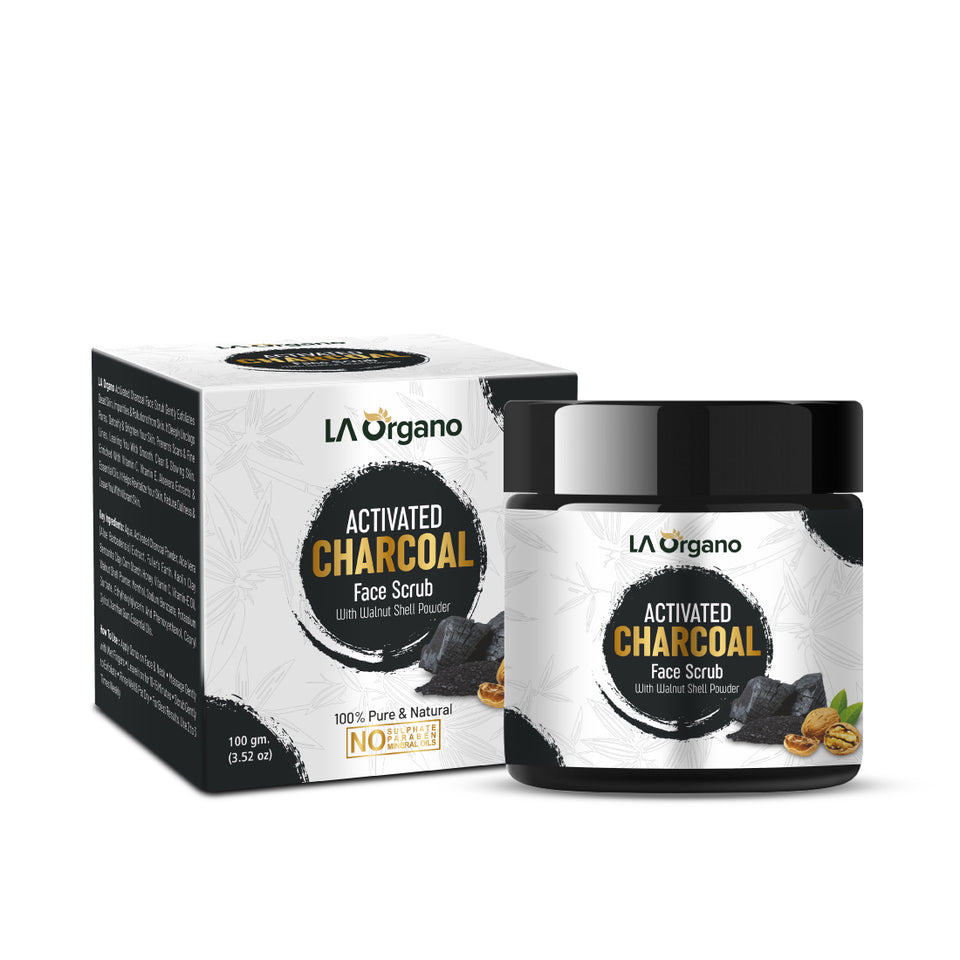 LA Organo Activated Charcoal Deep Cleansing Face Scrub