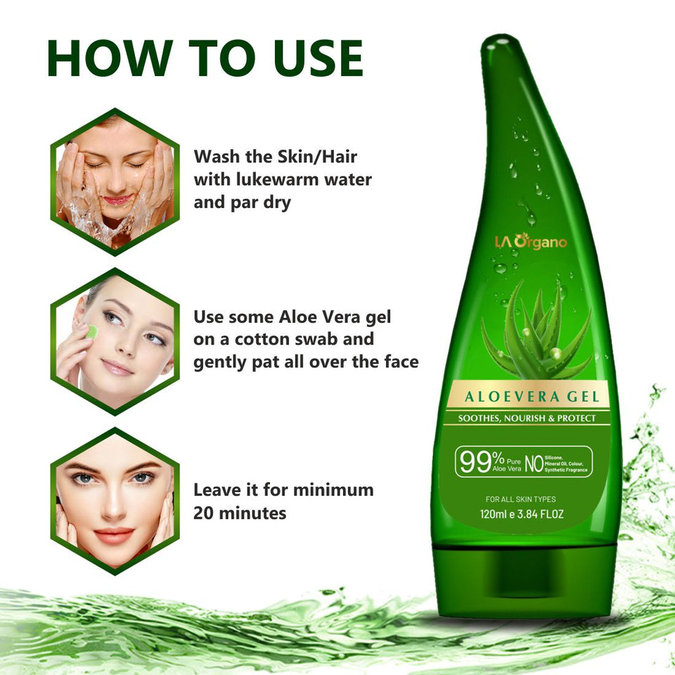 Aloe Vera Gel For Face And Hair La Organo