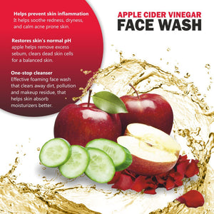 Apple Cider Vineger Face Wash+Red Onion Hair Oil+Activated Charcoal Peel Off Mask-Skin & Hair Care Combo (Pack of 3)