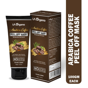 Arabica Coffee Peel Off Mask with Tea Tree & Aloe Vera Extracts For Anti-Pollution & Reduces Dark Circles