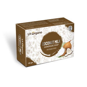 LA Organo Coconut Milk Handmade Natural Bath Soap - 100gm
