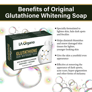 Glutathione Skin whitening Soap(100g) with 20% Vit C Face Glow Serum(30ml) Skin Care Combo