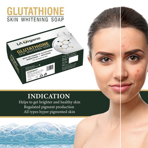 Glutathione Skin whitening Soap(75gx2) with Activated Charcoal Peel Off Mask(100g) Skin Care Combo