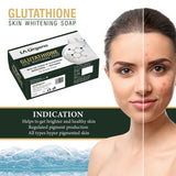 Glutathione Skin whitening Soap(75g) with 20% Vit C Face Glow Serum(30ml) Skin Care Combo