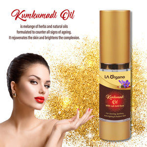 Kumkumadi Oil Enriched with Gold Dust(30ml) & Aloe Vera Gel(120ml) For Daily Care,Glowing,Spotless,Anti-Ageing & Radiant Skin