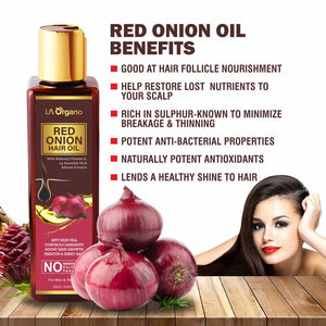Red Onion Hair Oil For Hair Growth+Vitamin C Face Serum+Apple Cider Face Wash,Skin & Hair Care Combo (Pack of 3)