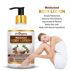 Shea Butter & Cocoa Butter for Deep Moisturization & Repairs Skin- 200ml