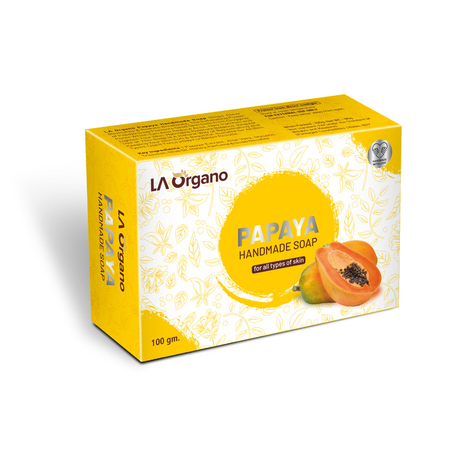 LA Organo Papaya Handmade Natural Bath Soap