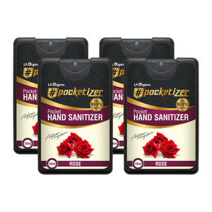 Rose Hand Sanitizer 18 mL(each) Pack of 4