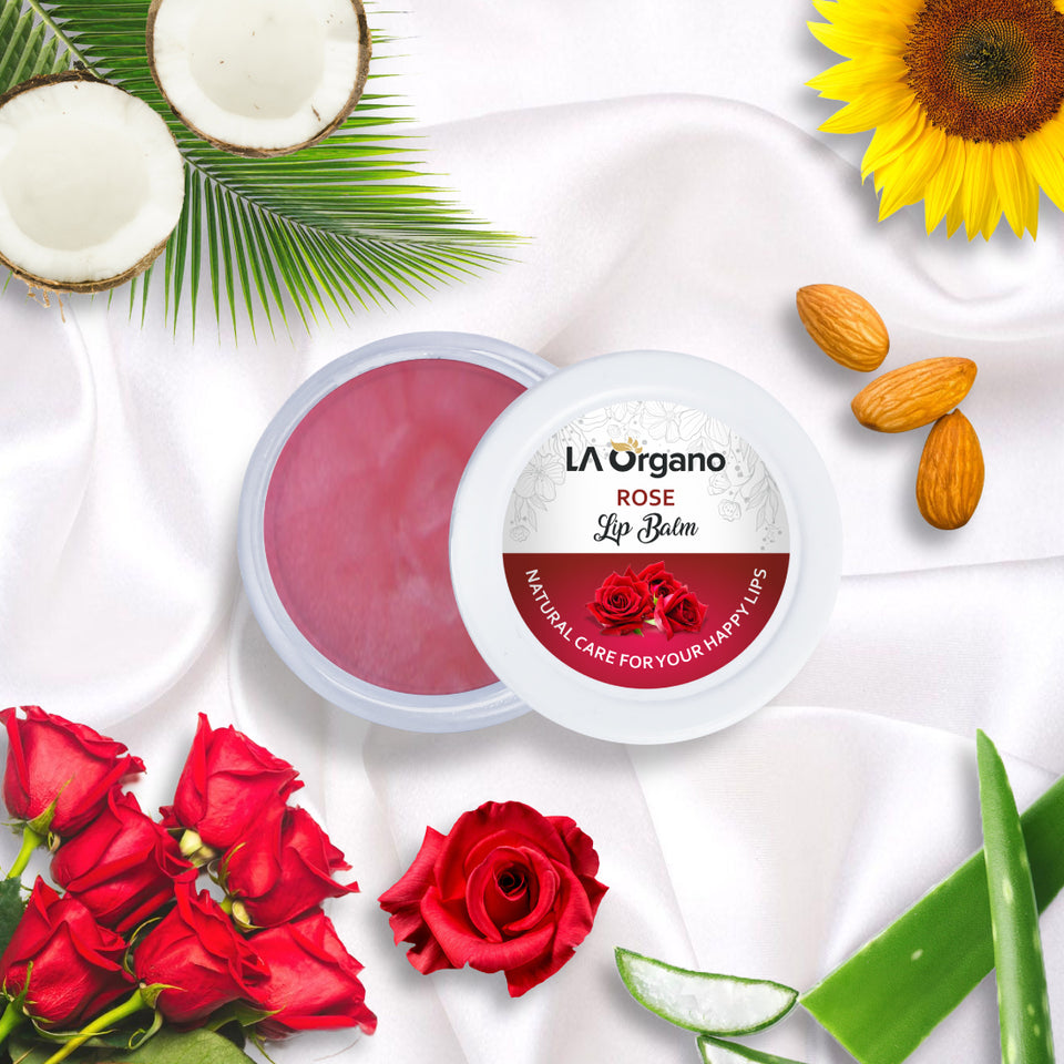 LA Organo Organic Lip Balm with Kokum Butter and Rose ( 10 g)