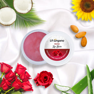 LA Organo Organic Lip Balm with Rose, Kokum Butter and Green Apple ( 10 g)