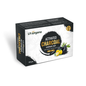 LA Organo Charcoal Handmade Natural Bath Soap