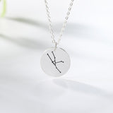 Engraved Zodiac Constellation Necklace