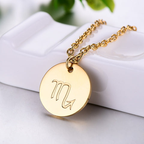 Zodiac Sign Small Charm Necklace
