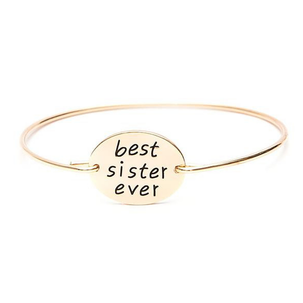 Best Sister Ever Bangle (Shipped From USA)