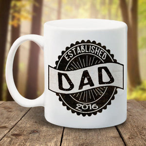 Dad mug Fathers Day New Dad Dad established est new father new baby pregnancy announcement Coffee Mug new grandpa husband gift