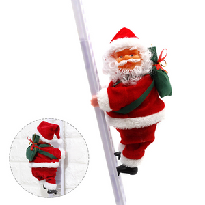 20cm Climbing Santa Claus with ladder