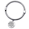 The Love Between Grandmother and Grandson Bangle - Silver (Ships From USA)