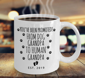 Baby Announcement New Grandpa Gift - Pregnancy Reveal Promoted To Grandpa Mug  - 11 oz. or 15 oz. Mug