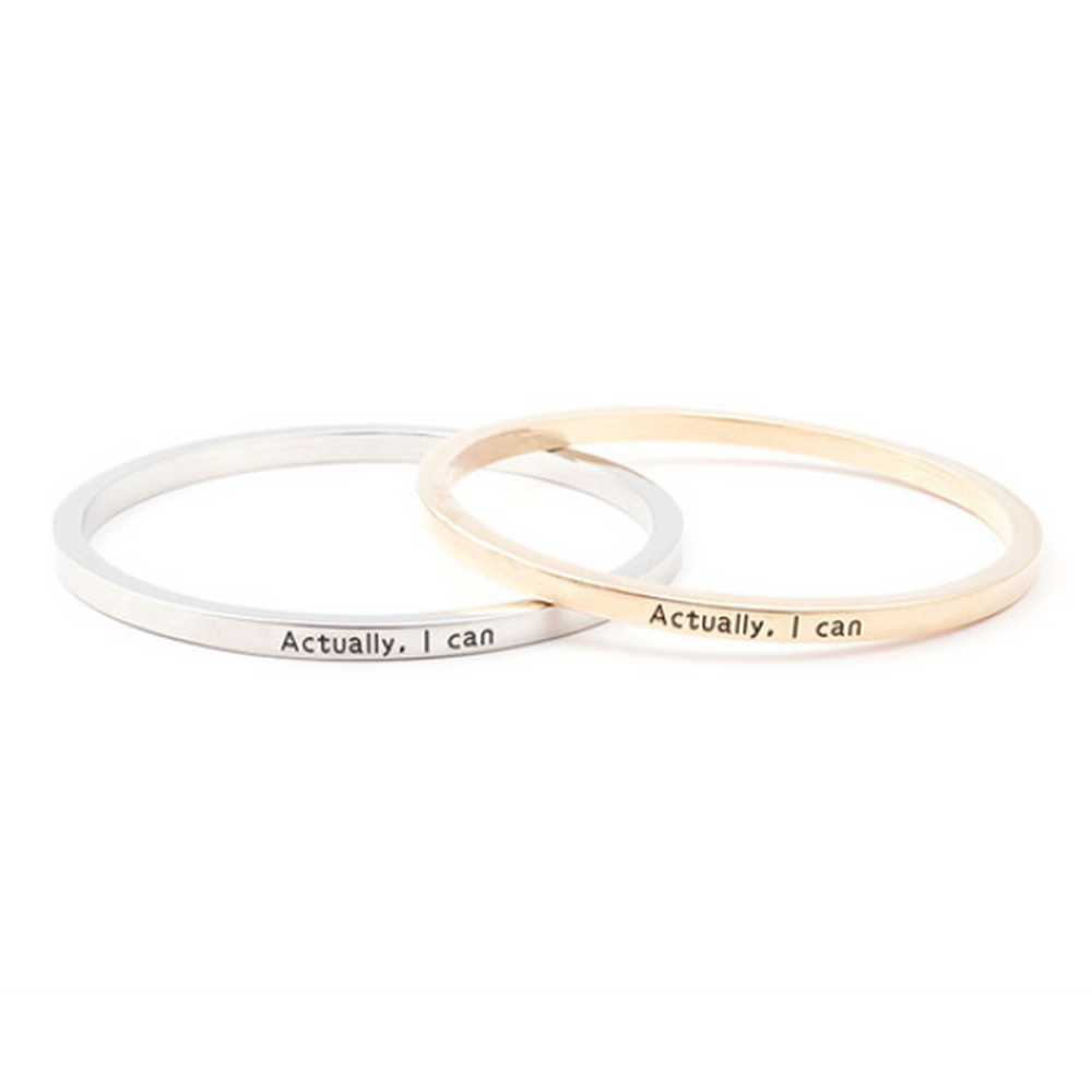 Actually I Can Bangle (Shipped From USA)