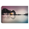 Guitar Sunset City Canvas .75in Frame Canvas Black / 12 x 8