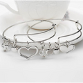 Mother Daughter Charm Bangle Set  (Ships From USA)
