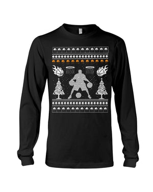 XMAS Basketball Dribbling Edition- Unisex - Sizes Small to 5XL Ugly Christmas Sweater