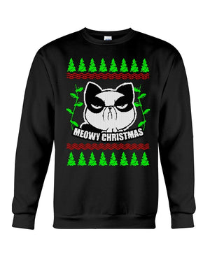 Angry Cat Meowy Sweatshirt- Unisex - Sizes Small to 5XL Ugly Christmas Sweater