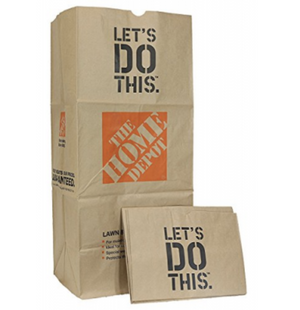 The Home Depot ( 15-PK heavy Duty Brown Paper Lawn and Refuse Bags for Home and