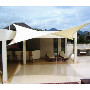 Beige Waterproof Sun Shade Sail Rectangle Awning Top Canopy Custom Size 5' -24'