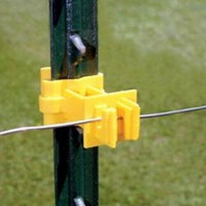 Zareba IT2XY-Z Snap-on 2-Inch Extender T-Post Insulator, Yellow, 25 per Bag