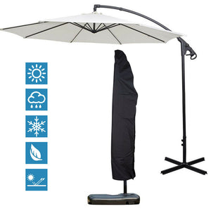 Heavy Duty Outdoor Patio Umbrella Protective Cover Bag Waterproof Canopy 7-13'ft