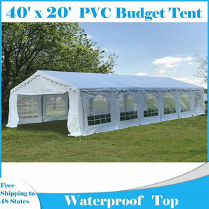 40'x20' Budget PVC Wedding Party Tent Canopy Shelter - White