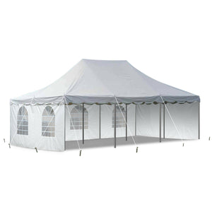 Event Party 20' x 30' Pole Tent 14 Oz Vinyl Canopy 2 Solid 2 Window Side Walls