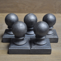 Cast iron Ball Fence Finial Square Topper Post Caps For 2 x 2