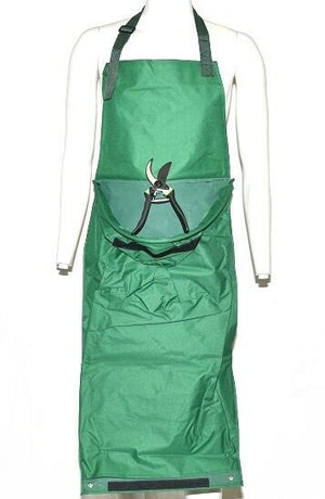 2 in 1 Garden Apron With Front Pocket and Hand Pruner in Green