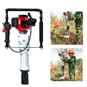 Air Cooling Gasoline Gas Power Push Pile Post Driver 2 Stroke Single Cylinder US