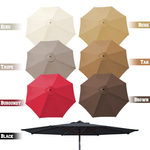 9ft 8 Rib Patio Umbrella Cover Canopy Replacement Parasol Top Cover Outdoor