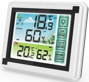 Weather station digital Thermometer Hygrometer Indoor Outdoor Temperature