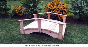 Amish-Made Weight-Bearing Cedar Oriental Bridge - Bridges In 8 Sizes & 9 Colors