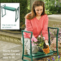 Folding Garden Kneeler Bench Kneeling Soft Eva Pad Seat With Stool Pouch US