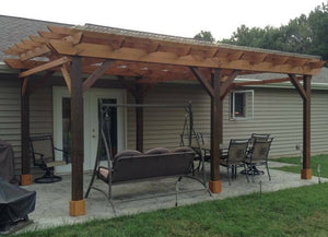 Covered Pergola Plans Design, DIY How to build 12'x18' Step by Step Instructions