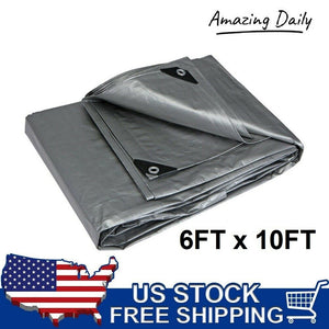 Industrial Silver All Purpose Water Resistant Tarps Heavy Duty Reinforced Corner