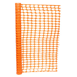 BISupply | 4 FT Safety Fence – 50 FT Plastic Fencing Roll, Orange Fencing