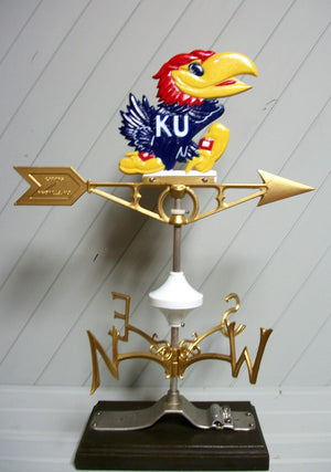 Kansas Jayhawk Weather Vane KU weathervane University Robbins Lightning 568