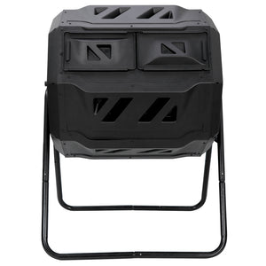 Composting Tumbler Dual Rotating Outdoor Garden Compost Bin Heavy Duty Capacity