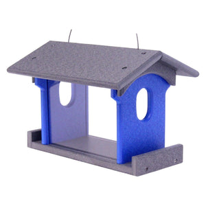 Amish-Made Bluebird Feeder, Eco-Friendly Poly-Wood Hanging Blue Bird Feeder