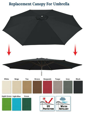 6/8/9/10/11.5/13ft Patio Umbrella Cover 6rib 8 Rib Replacement Polyester Canopy